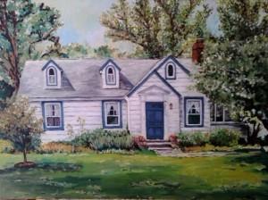 Sold, Paul's house 16×20 oil