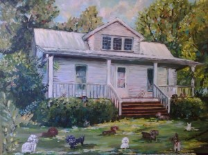 Sold, TINA' HOUSE 16×20 oil